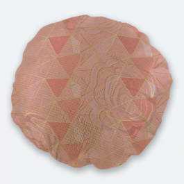 Pretty in pink Round Brasso Jacquard Throw Pillow Without Insert