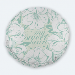 Sweet heart Round Textured Throw Pillow Without Insert