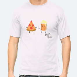 It's a beer & pizza kinda day BaeLolly Men's Round Neck Half Sleeve T-Shirt