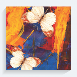 Colorful Butterflies BaeLolly Canvas Frame