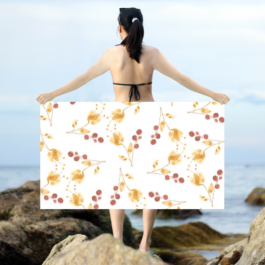 Falling Buds in Yellow Intricate Dobby Emma Sarong