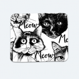 Head-cute-cats-graphic BaeLolly Mouse Pad