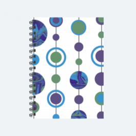 Marbled Spots Blue, Purple, Green BaeLolly Ruled Notepad