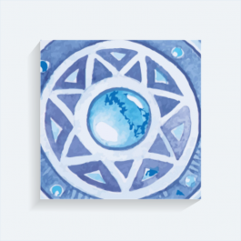 Blue star BaeLolly Square Canvas Frame