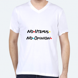 No Uterus No Opinion BaeLolly Men's V-Neck T-shirt