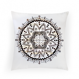 Urban Mandala Square Canvas Throw Pillow Without Insert