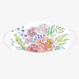 Watercolour florals face mask BaeLolly Emma Face Mask