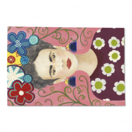 The self-portrait girl Lupin PVC placemats