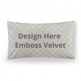 Lumbar Embossed Velvet Throw Pillow Without Insert