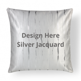 Square Silver Jacquard Throw Pillow With Insert