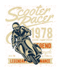 Scooter Racer BaeLolly Men's V-Neck T-shirt