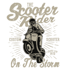 Scooter Rider2 BaeLolly Men's Raglan T-shirt