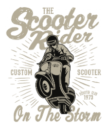 Scooter Rider2 BaeLolly Women's Raglan T-shirt